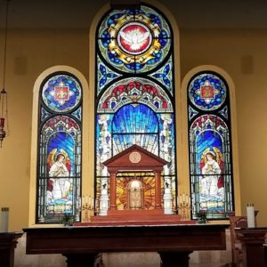18' H ID Church Stain Glass Alter