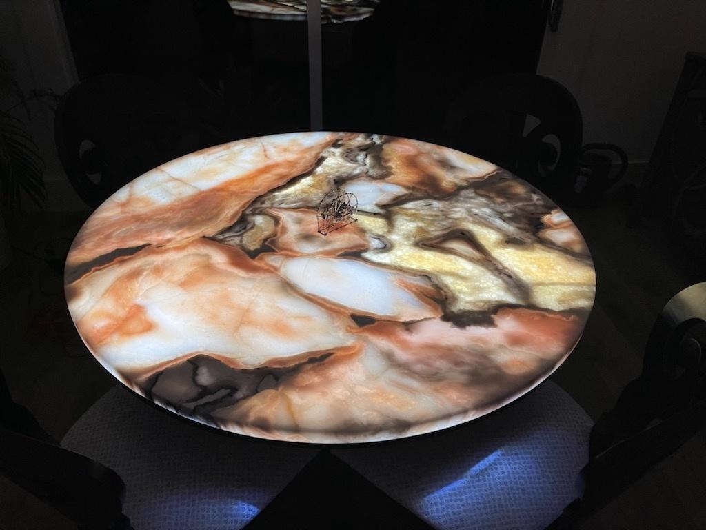 LED Custom Light Panel Round Table
